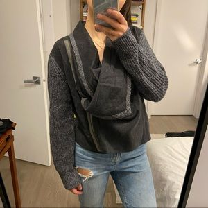Club Monaco Wool & Cashmere Zip Cardigan